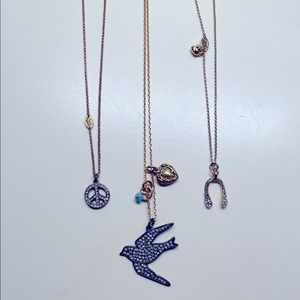Juicy Couture Gold Charm Necklaces
